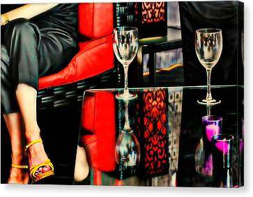 The Wine Bar Canvas Print by Diana Angstadt