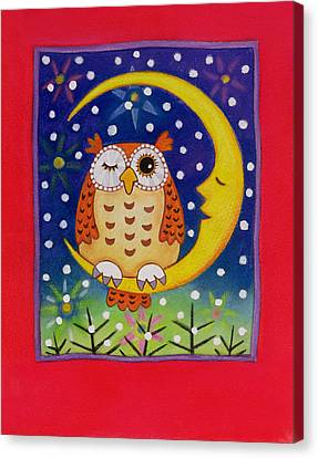 The Winking Owl Canvas Print by Cathy Baxter