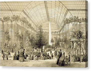 The Winter Garden Canvas Print by A Provost