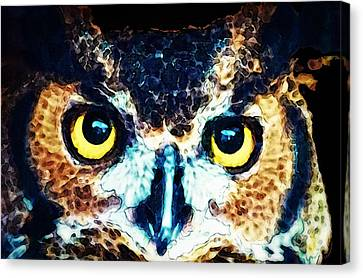 The Wise One - Owl Art By Sharon Cummings Canvas Print by Sharon Cummings