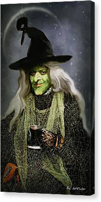 The Witch Of Endor As A Cavalier Canvas Print by RC deWinter