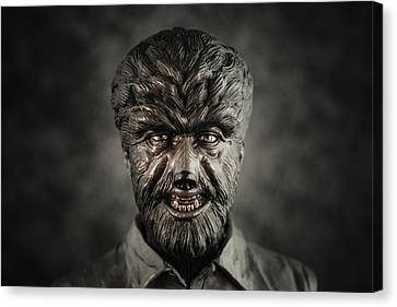 The Wolf Man - Lon Chaney Jr Canvas Print by Marco Oliveira