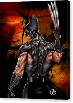 The Wolverine Canvas Print by Pete Tapang