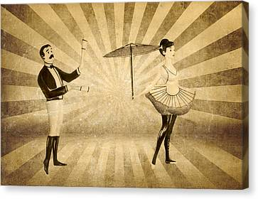 The Woman And The Acrobat Canvas Print by Heike Hultsch