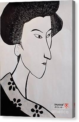 The Woman Canvas Print by Taikan Nishimoto