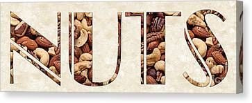The Word Is Nuts Canvas Print by Andee Design