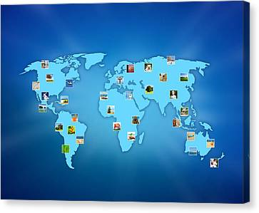 The World At Your Fingertips Canvas Print by Aged Pixel