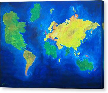 The World Atlas According To The Irish Canvas Print by Conor Murphy