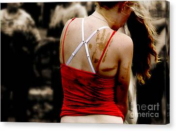 The World Of Red Canvas Print by Steven  Digman