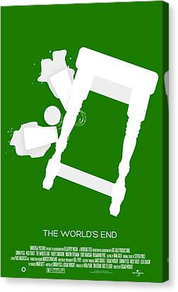The Worlds End Cornetto Trilogy Custom Poster Canvas Print by Jeff Bell