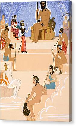The Worship Of Zeus Canvas Print by Francois-Louis Schmied
