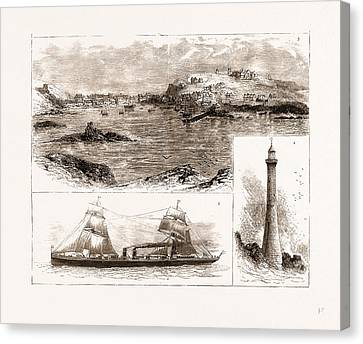 The Wreck Of The Schiller On The Scilly Isles Canvas Print by Litz Collection