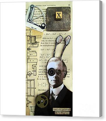 The X Factor - Inventor Canvas Print by Linda Apple