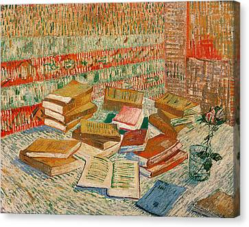 The Yellow Books Canvas Print by Vincent Van Gogh