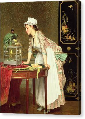 The Yellow Canaries Canvas Print by Joseph Caraud