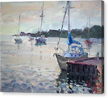The Youngstown Yachts Canvas Print by Ylli Haruni