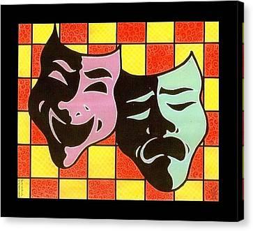 Theatre Masks Canvas Print by Jim Harris