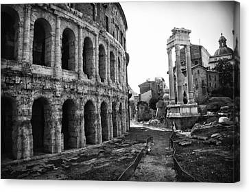 Theatre Of Marcellus Canvas Print by Melany Sarafis