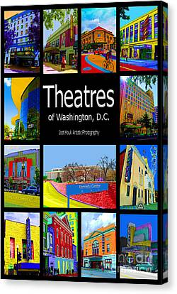 Theatres Of Washington Dc Canvas Print by Jost Houk