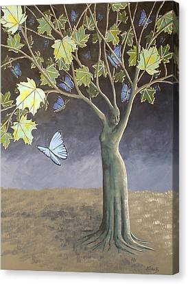 The Butterfly Canvas Print by Anna Roberts