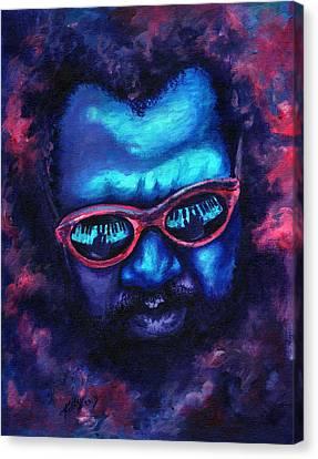 Thelonious Monk Canvas Print by Kathleen Kelly Thompson