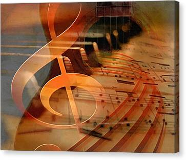 Theoretical Meaning Of Music Canvas Print by Georgiana Romanovna