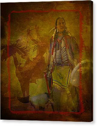 There Was Blood - Tribute To Native Americans Canvas Print by Jeff Burgess