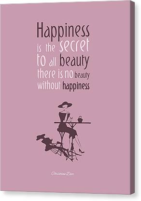 There's No Beauty Without Happiness Canvas Print by Gina Dsgn