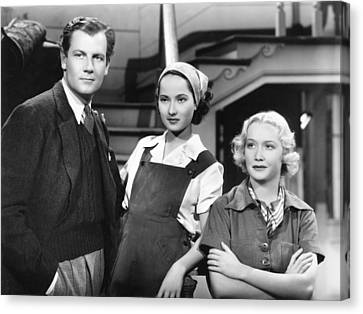 These Three, From Left, Joel Mccrea Canvas Print by Everett