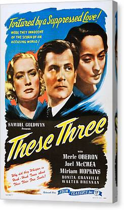 These Three, Us Poster Art, From Left Canvas Print by Everett