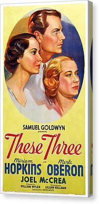 These Three, Us Poster, From Left Merle Canvas Print by Everett