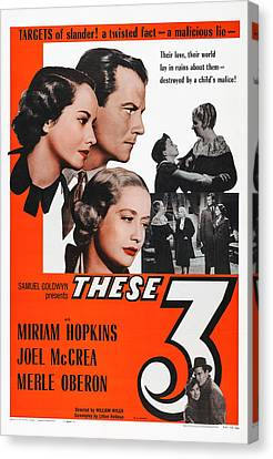 These Three, Us Poster, Heads From Left Canvas Print by Everett