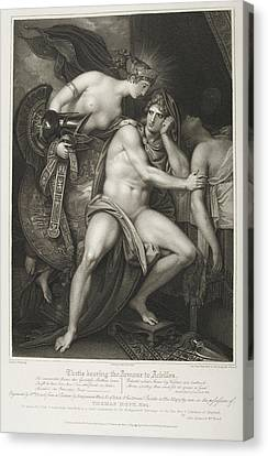 Thetis Bearing The Armour To Achilles Canvas Print by British Library