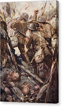 They Bombed And Bayoneted Their Way Canvas Print by Cyrus Cuneo