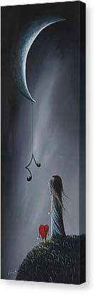 They Feel Your Love Song - Surreal Art By Shawna Erback Canvas Print by Shawna Erback