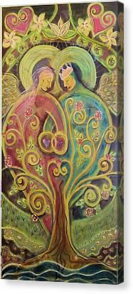They Grow In Love Canvas Print by Deborah Carlson