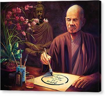Thich Nhat Hanh Canvas Print by Steve Simon