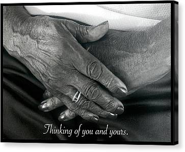 Thinking Of You And Yours. Canvas Print by Harold E McCray