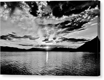 This Is Idaho Black And White Canvas Print by Benjamin Yeager