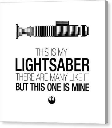 This Is Luke's Lightsaber Canvas Print by Vincent Carrozza