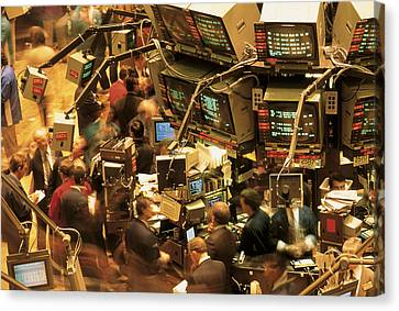 This Is The Interior Of The New York Canvas Print by Panoramic Images