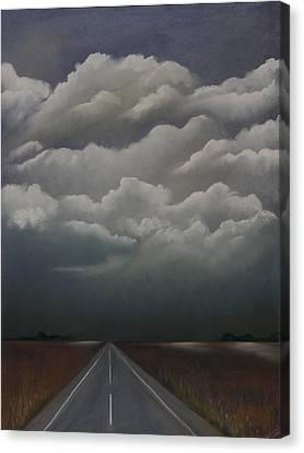 This Menacing Sky Canvas Print by Cynthia Lassiter