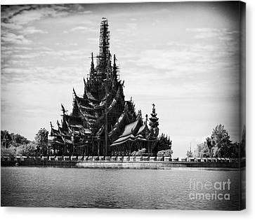 This Old Temple Canvas Print by Thanh Tran