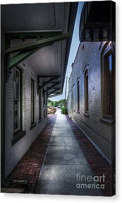 This Way To The Trains Canvas Print by Marvin Spates