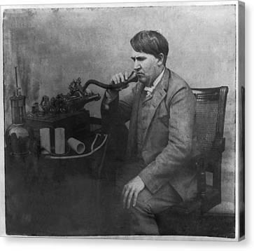 Thomas Alva Edison 1892 Canvas Print by Digital Reproductions