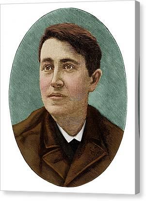 Thomas Edison Canvas Print by Maria Platt-evans