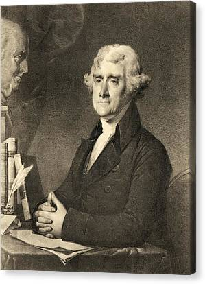 Thomas Jefferson Canvas Print by American School