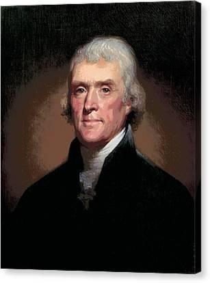 Thomas Jefferson Canvas Print by Daniel Hagerman