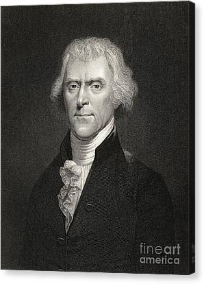 Thomas Jefferson Canvas Print by English School
