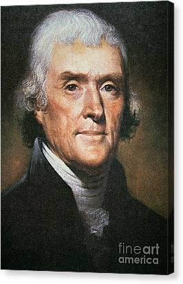 Thomas Jefferson Canvas Print by Rembrandt Peale